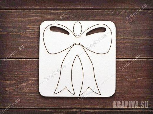 Чипборд Бантик 3D
