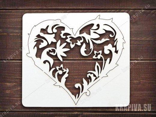 Чипборд Сердце №5