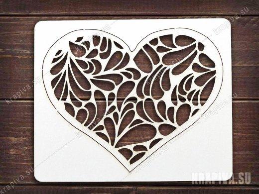 Чипборд Сердце №10
