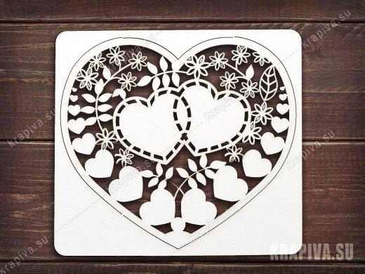 Чипборд Сердце №3
