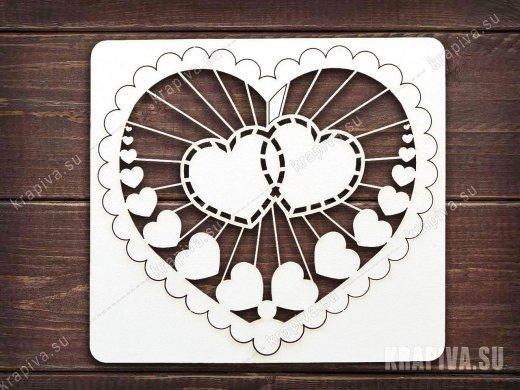 Чипборд Сердце №2