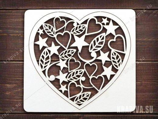 Чипборд Сердце №6