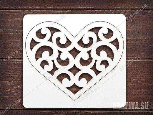 Чипборд Сердце №12