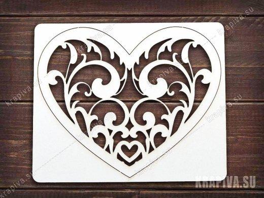 Чипборд Сердце №14