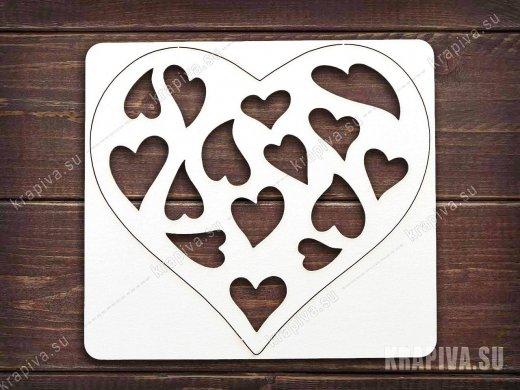 Чипборд Сердце №16