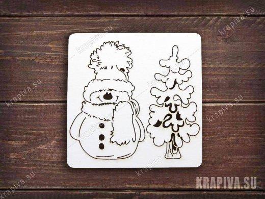 Чипборд Снеговик №12