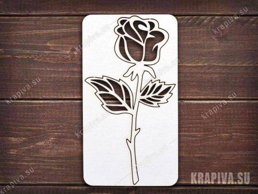 Чипборд Роза №1