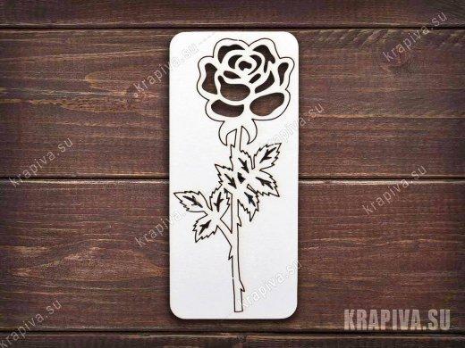 Чипборд Роза №2