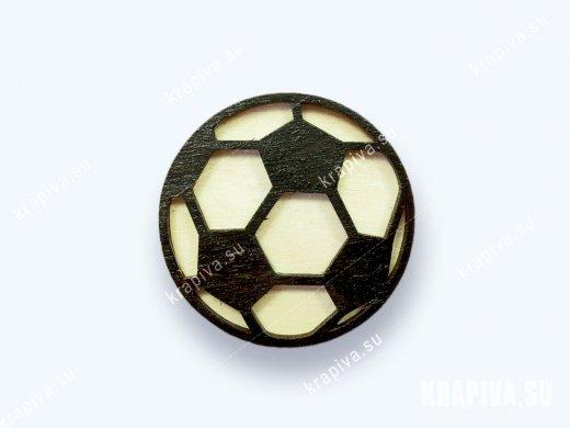 Брошь «Футбольный мяч» (значок)