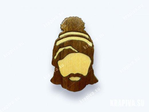 Брошь «Борода №2» (значок)