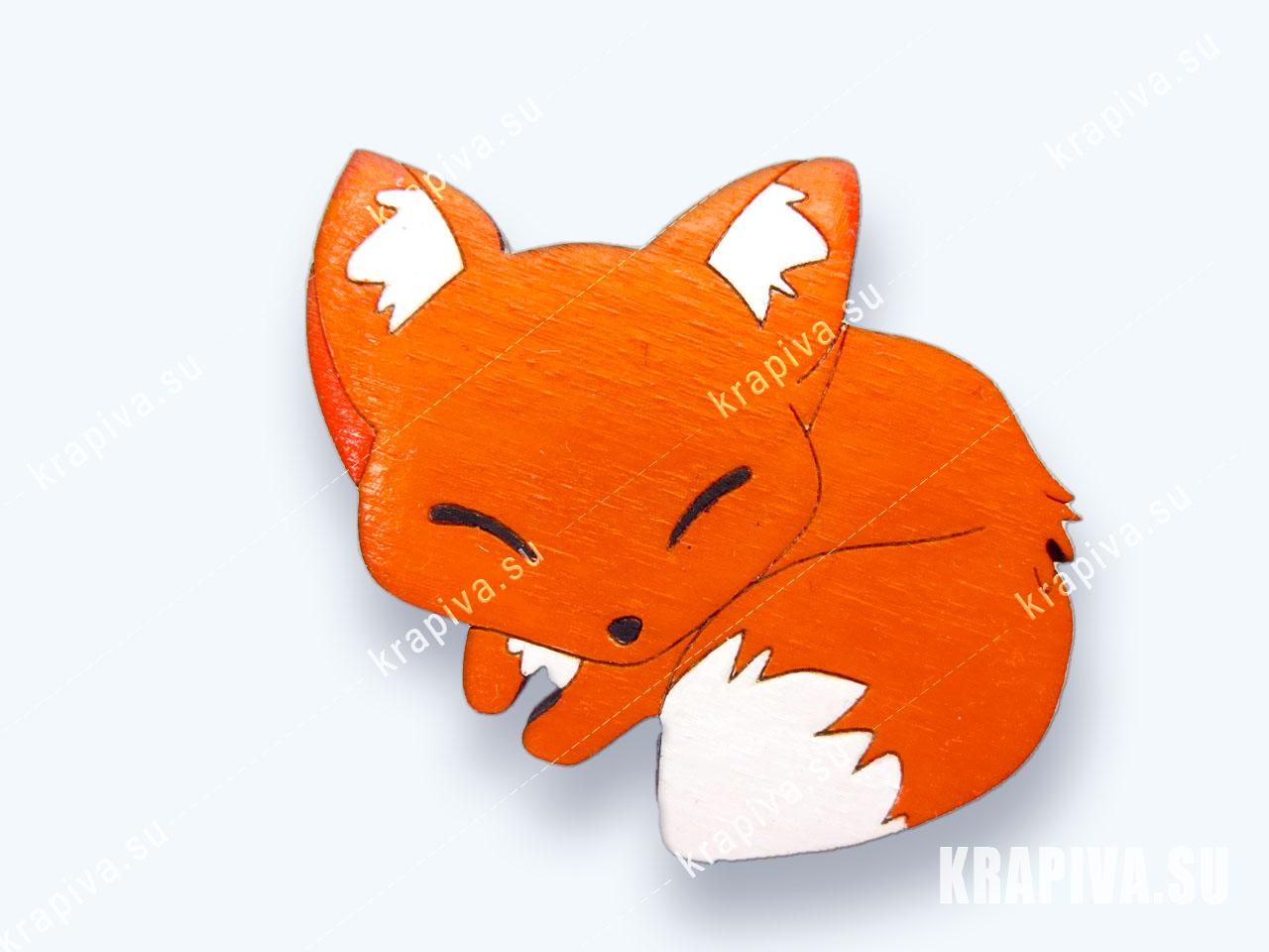 Лисичка Картинки Брошь «Лисичка №4» z-fox4 купить в интернет-магазине krapiva.su