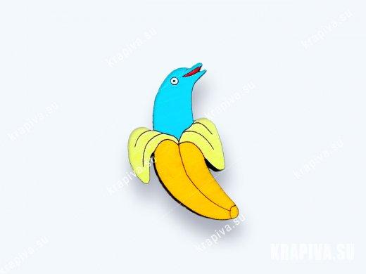 Значок Дельфин в банане