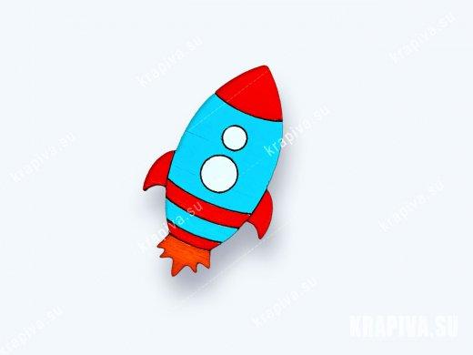 Брошь Ракета №2