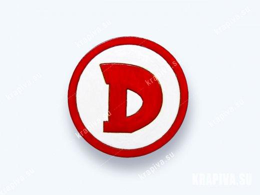 Значок деревянный Лого D