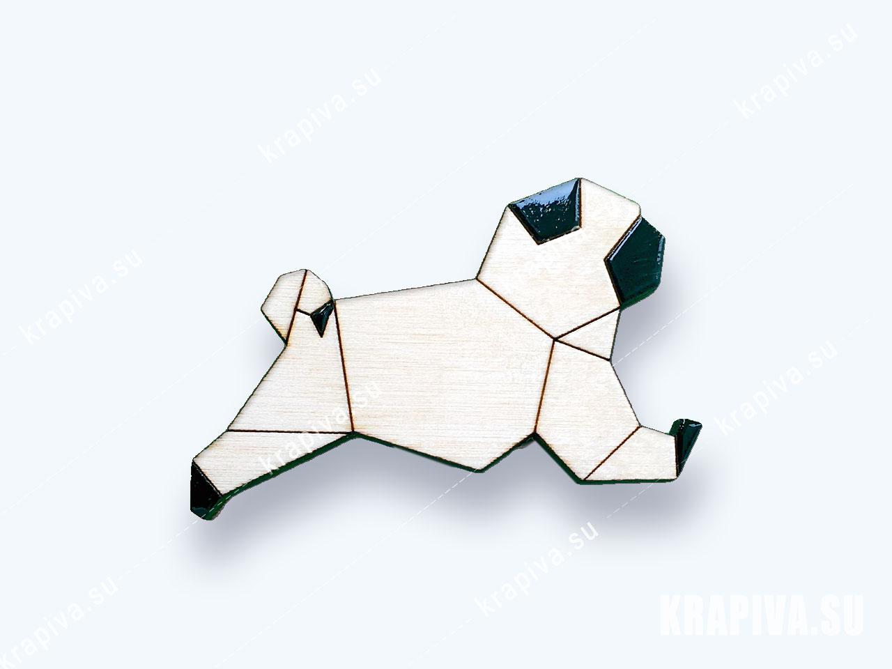 Значок Геометрическая собака №3 (фото-1)