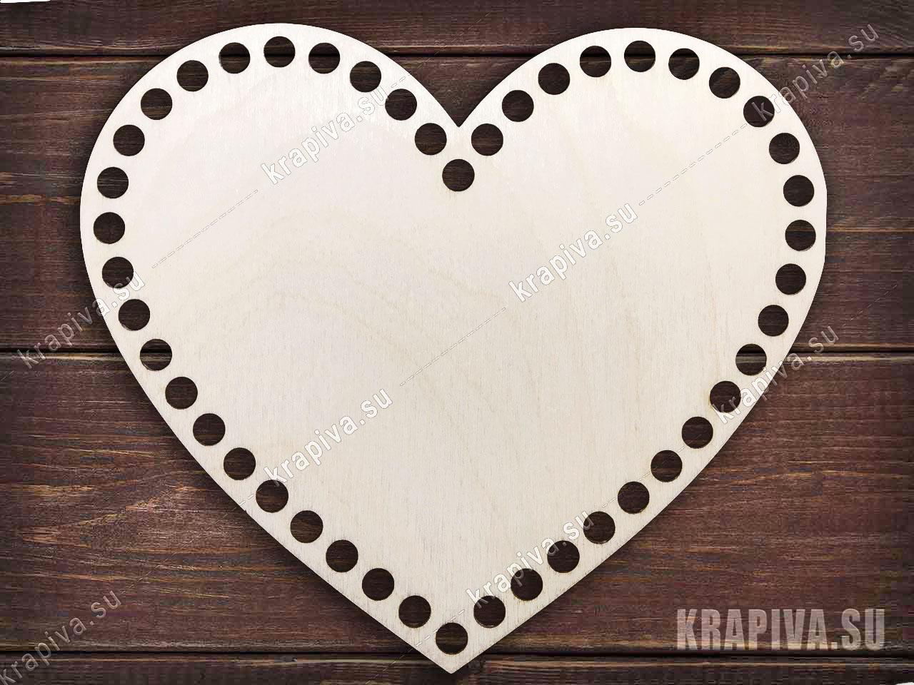 Донышко для корзины в форме сердца за 90 руб. в магазине Крапива (krapiva.su) (фото)