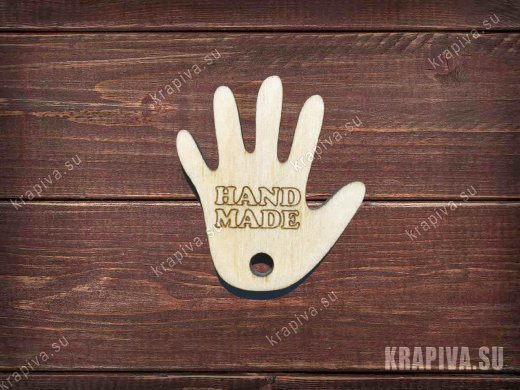 Бирка Hand Made 35х40мм