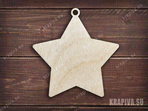 Заготовка елочной игрушки Звезда