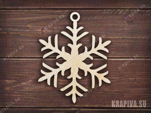 Заготовка елочной игрушки Снежинка №5