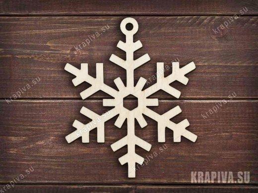 Заготовка елочной игрушки Снежинка №6