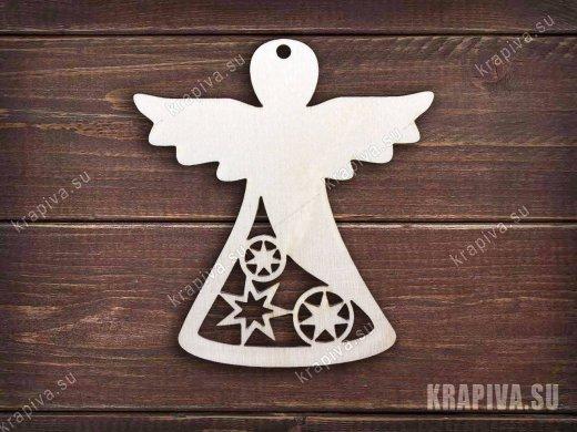 Заготовка елочной игрушки Ангел №3