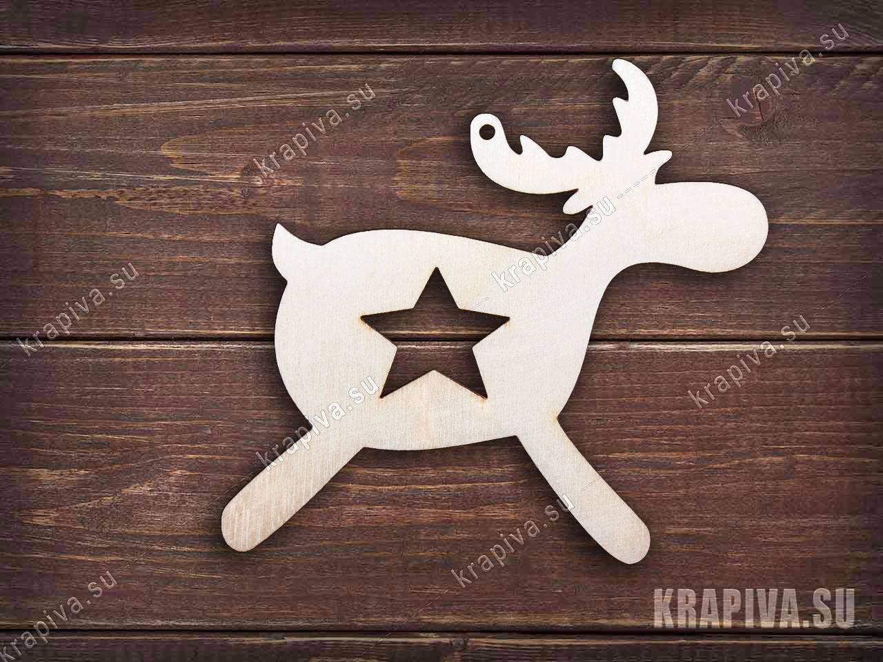 Заготовка елочной игрушки Олень №8 за 30 руб. в магазине Крапива (krapiva.su) (фото)