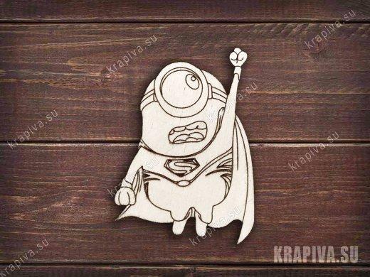 Миньон супергерой заготовка значка