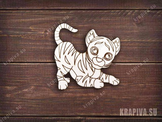 Тигр заготовка значка
