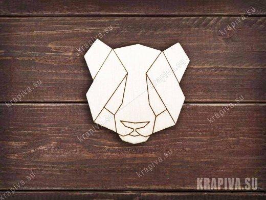 Геометрическая панда заготовка значка