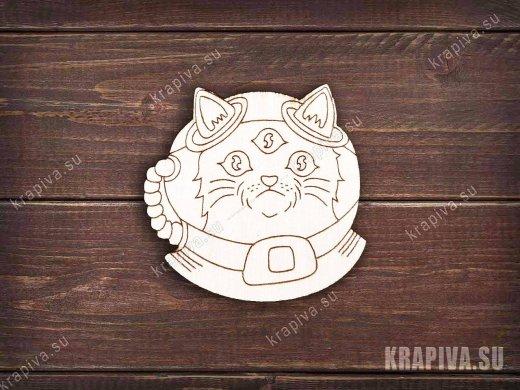 Инопланетный кот заготовка значка