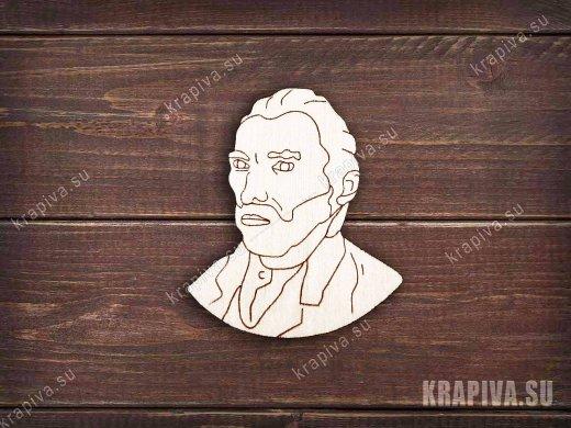Ван Гог заготовка значка