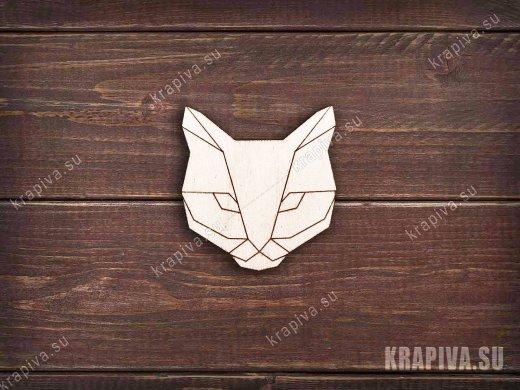 Геометрический кот заготовка значка