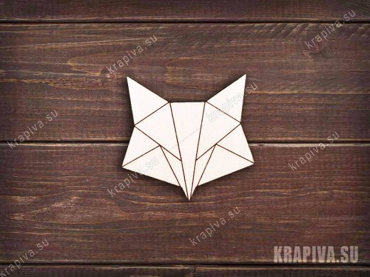 Геометрическая лиса №2 заготовка значка