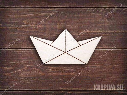 Бумажный кораблик заготовка значка