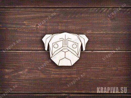 Геометрическая собака заготовка значка