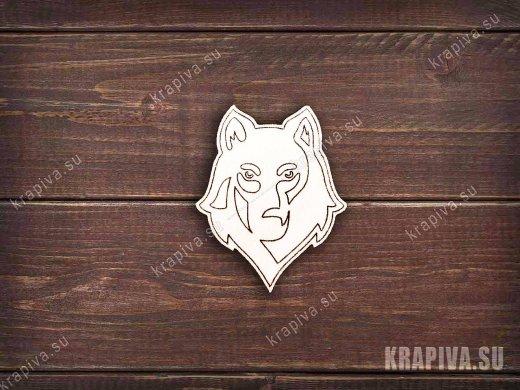 Волк №2 заготовка значка