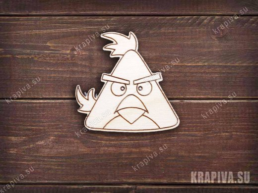 Angry Birds Chuck заготовка значка