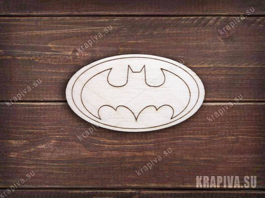 Batman заготовка значка