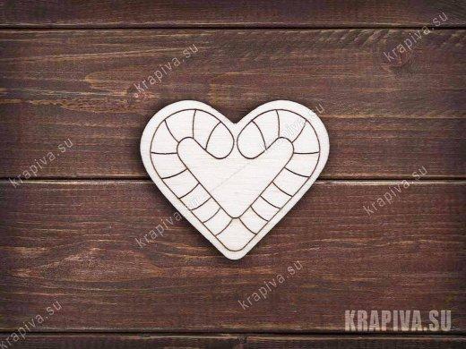Сердце заготовка значка