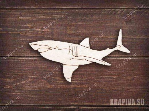 Акула заготовка значка