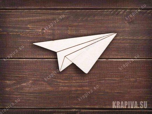 Бумажный самолетик заготовка значка