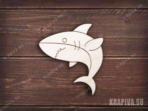 Акула №3 заготовка броши