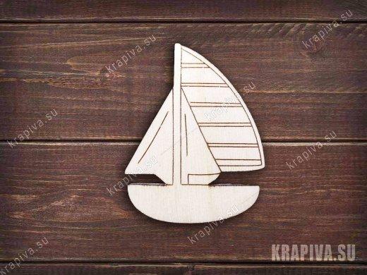 Кораблик заготовка значка
