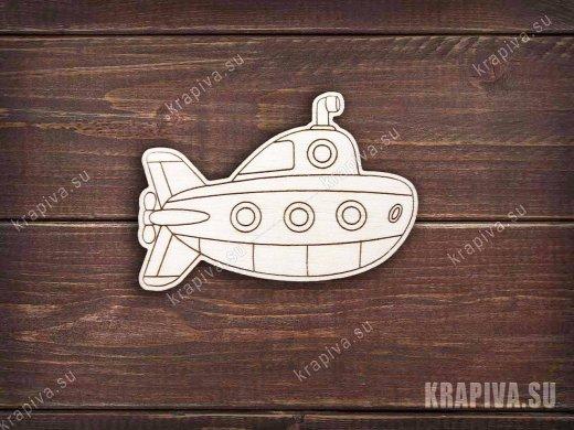 Подводная лодка №2 заготовка значка