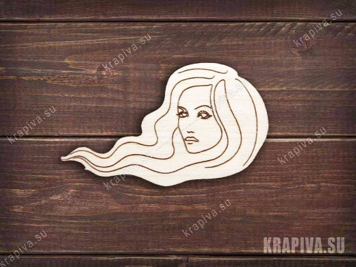 Женское лицо №4 заготовка значка