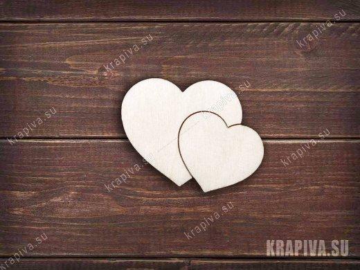 Сердечки заготовка значка