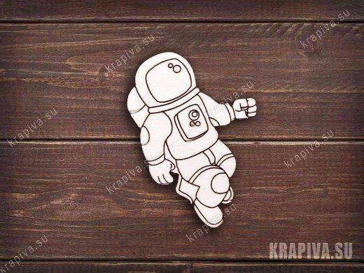 Космонавт №3 заготовка значка