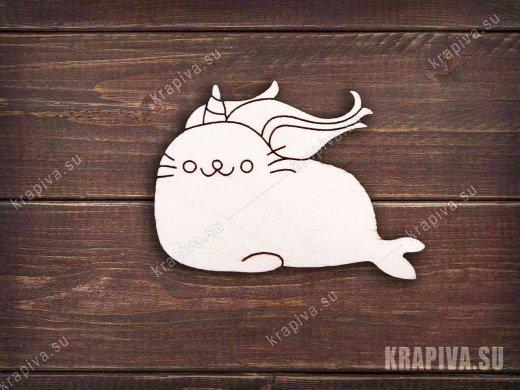 Морской котик единорог заготовка значка
