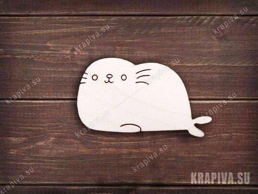 Морской котик №3 заготовка значка