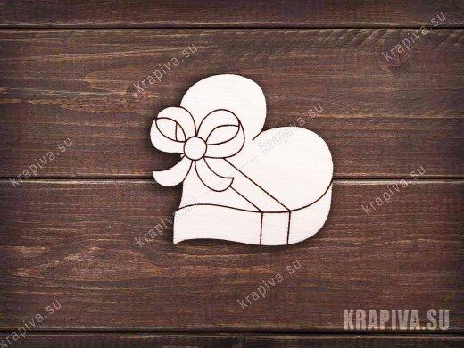 Коробка с бантиком заготовка значка